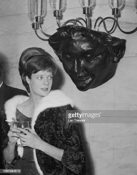 English actress Maggie Smith at the Evening Standard Theatre Awards London UK 29th January 1963