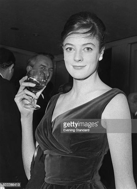 English actress Maggie Smith at the Evening Standard Theatre Awards London 25th January 1962