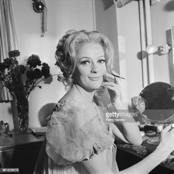 English actress Maggie Smith in the dressing room of The Old Vic London UK 24th October 1967