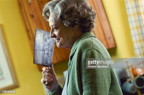 English actress Maggie Smith stars as the murderous housekeeper 'Grace' in the British black comedy 'Keeping Mum' 2005