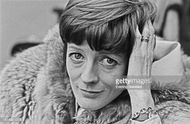 English actress Maggie Smith, UK, 8th March 1974. She is appearing in the stage comedy 'Snap!' at the Vaudeville Theatre on the Strand in London.