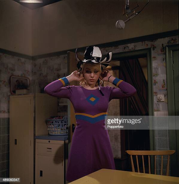 English actress Margaret Nolan pictured in a scene from the television drama 'Compensation Alice' in 1967