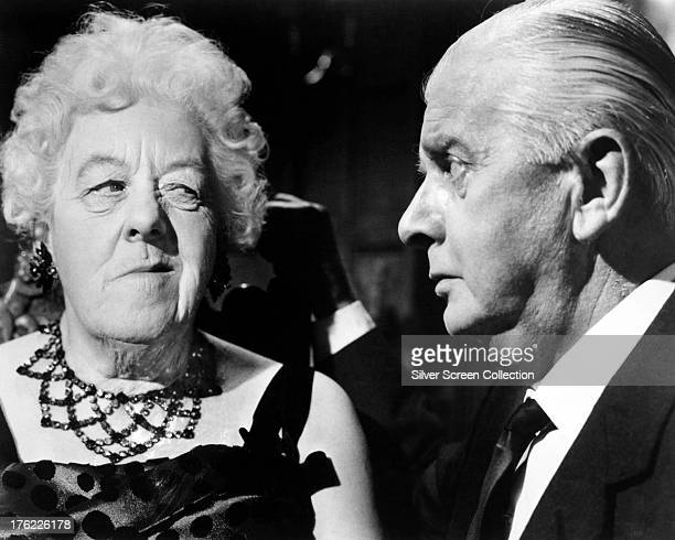 English actress Margaret Rutherford and her husband actor Stringer Davis as Mr Stringer in 'Murder At The Gallop' directed by George Pollock 1963