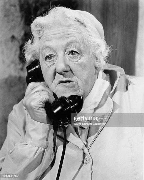 English actress Margaret Rutherford as Jane Marple in 'Murder Ahoy!', directed by George Pollock, 1964.