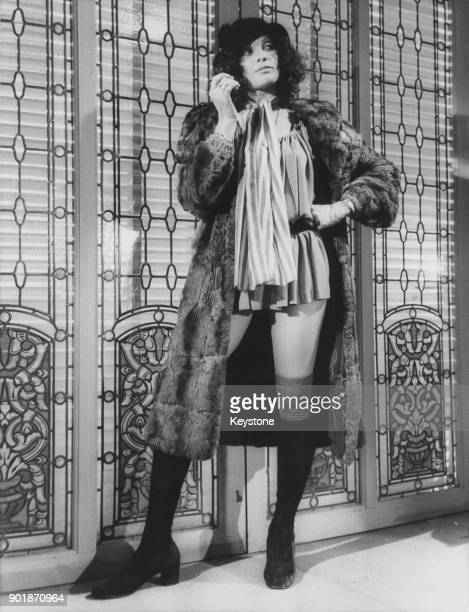 English actress Martine Beswick during the filming of 'Ultimo Tango a Zagarol' a parady of the film 'Last Tango in Paris' circa 1973 The film is...