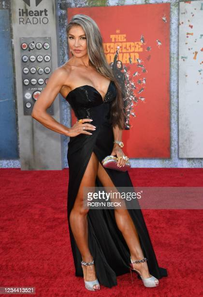 """English actress Mayling Ng arrives for the premiere of """"The Suicide Squad"""" at the Regency Village theatre in Westwood, California on August 2, 2021."""