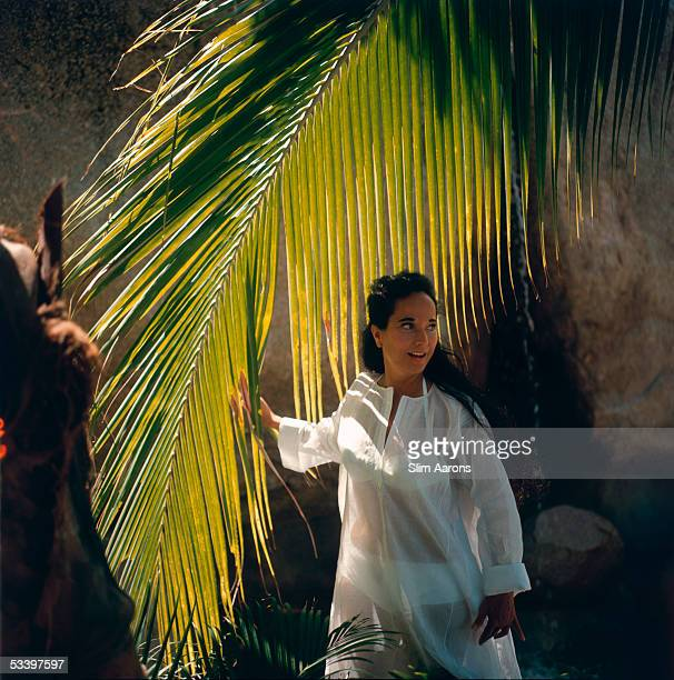 English actress Merle Oberon in Acapulco Mexico February 1966
