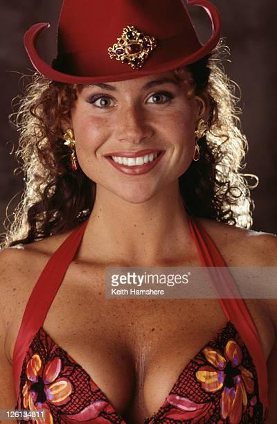 English actress Minnie Driver stars nightclub singer Irina in the James Bond film 'GoldenEye' 1995
