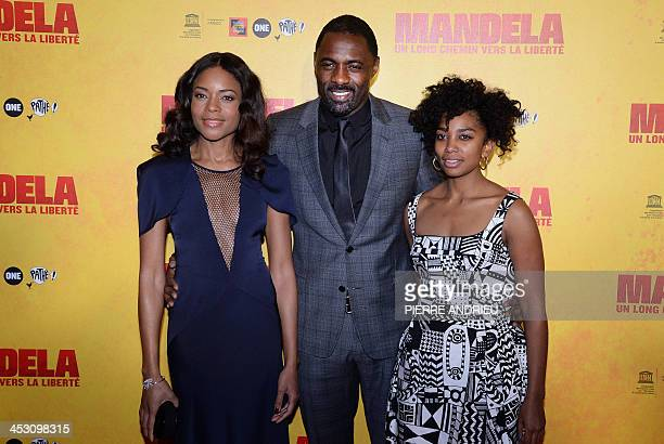 English actress Naomie Harris, who plays Mandela's wife Winnie, English actor Idris Elba, who plays the role of Mandela, and South African actress...