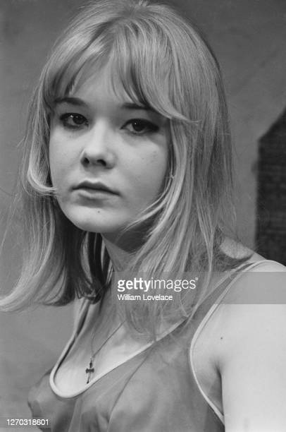 English actress Natasha Pyne during rehearsals for the play 'Three Men For Colverton' by David Cregan at the Royal Court Theatre in London September...