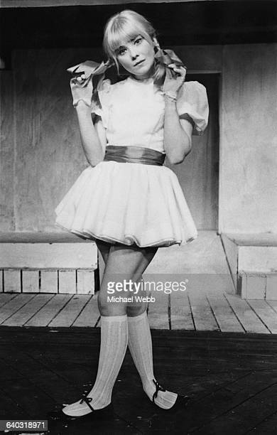English actress Natasha Pyne in costume as a girlish Ophelia during rehearsals for Charles Marowitz's new adaptation of Shakespeare's 'Hamlet' at the...