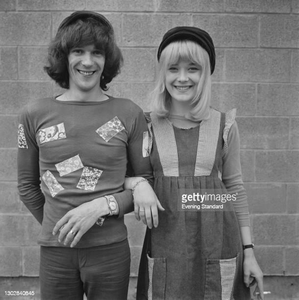 English actress Natasha Pyne marries actor Paul Copley, UK, 18th July 1972.