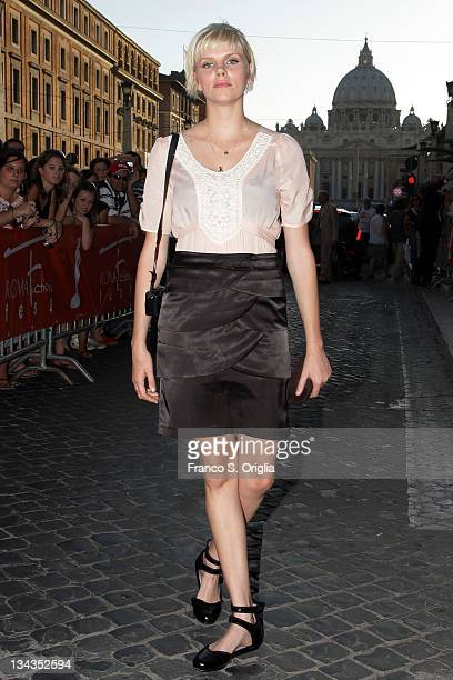 English actress Nina Milner of the television series 'Ella Blue' attends Roma Fiction Fest 2008 Closing Ceremony and Diamond Awards on July 12 2008...