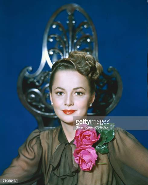English actress Olivia de Havilland circa 1945