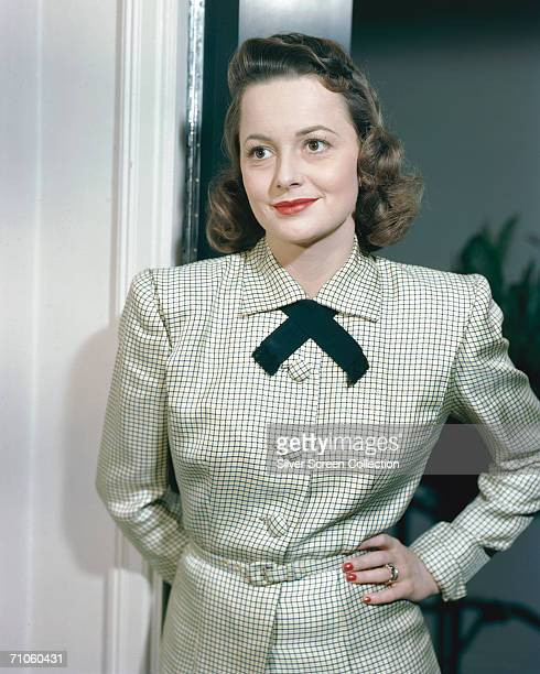 English actress Olivia de Havilland circa 1955