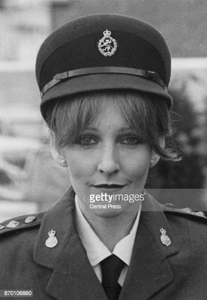 English actress Patricia Hodge as Women's Royal Army Corps officer Penny Milburn in a publicity still for the television series 'Holding the Fort'...