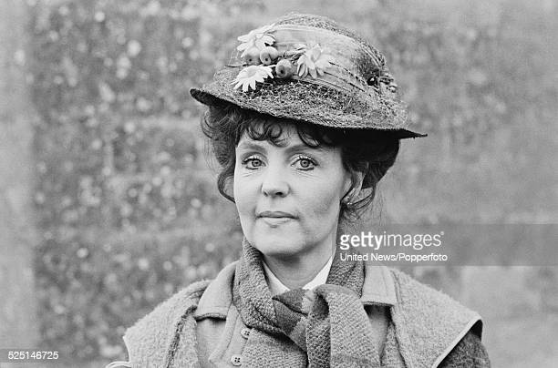 English actress Pauline Collins pictured in character as Sarah Moffatt on the set of the television series Thomas and Sarah in England on 15th...