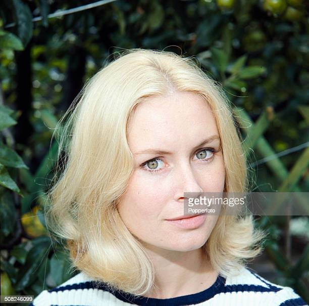 English actress Penelope Horner posed during the filming of the television drama series 'Love Story Squat Betty' in 1965