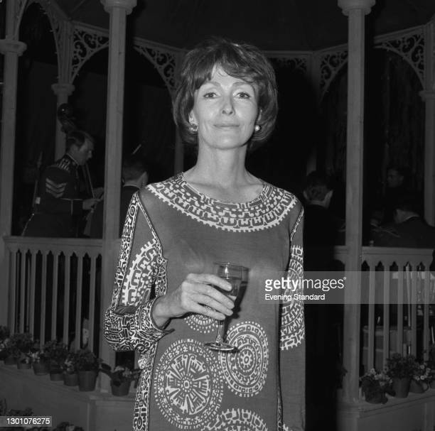 English actress Rachel Gurney , UK, 13th June 1973. She played Lady Marjorie Bellamy in the British television series 'Upstairs, Downstairs'.