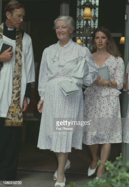 English actress Rachel Kempson attends a memorial service for her late husband actor Sir Michael Redgrave at St Paul's Church in Covent Garden London...