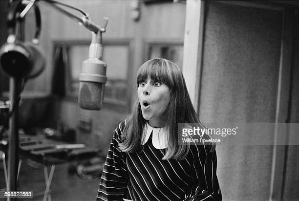 English actress Rita Tushingham in a recording studio to cut an album of songs from her new film 'Smashing Time' London UK 20th October 1967