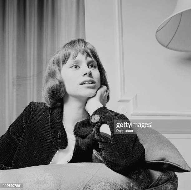 English actress Rita Tushingham who appears in the film 'The Knack and How to Get It' pictured wearing a jumbo cord jacket in March 1965