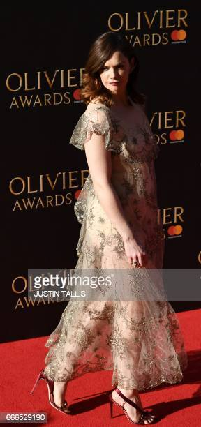 English actress Ruth Wilson poses on the red carpet upon arrival to attend the 2017 Laurence Olivier Awards in London on April 9 2017 / AFP PHOTO /...