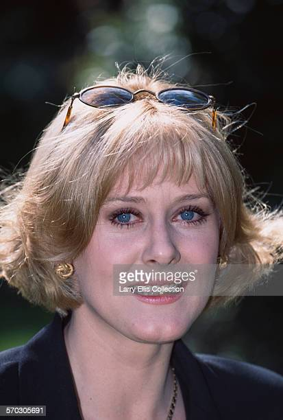 English actress Sarah Lancashire during production of the BBC comedy series 'Bloomin' Marvellous' circa 1997