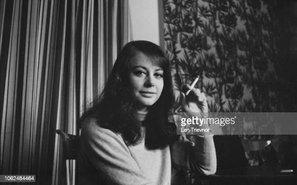 English actress Sarah Miles smoking a cigarette UK 3rd February 1963