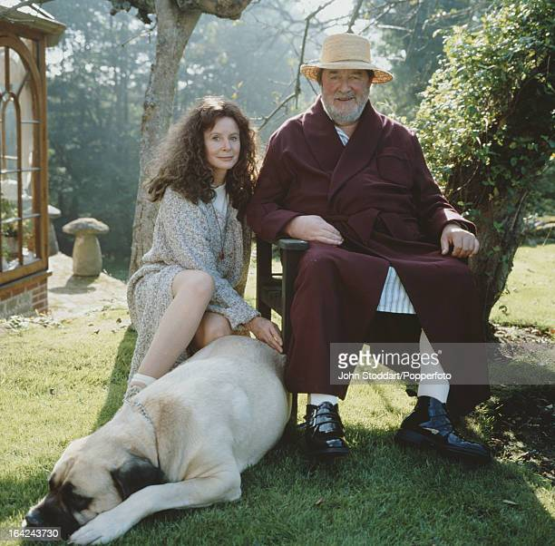 English actress Sarah Miles with her husband playwright Robert Bolt 1994