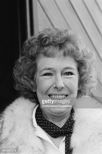English actress Sheila Mercier who plays the character of Annie Sugden in the television soap opera Emmerdale Farm pictured on 11th October 1982