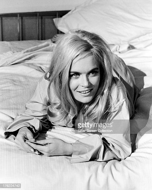 English actress Shirley Eaton as Jill Masterson in 'Goldfinger' directed by Guy Hamilton 1964
