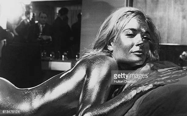 English actress Shirley Eaton born in 1936 covered in gold for the James Bond film Goldfinger 1964