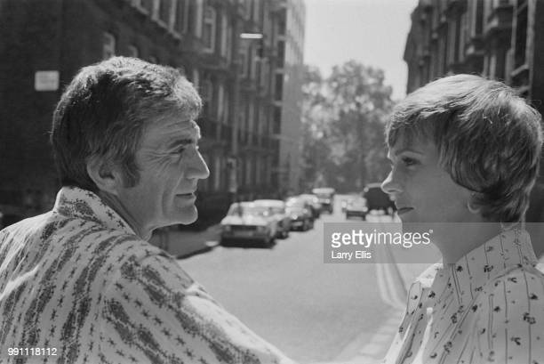 English actress singer and author Julie Andrews with her husband American filmmaker Blake Edwards near Shepherd Market UK 9th June 1973