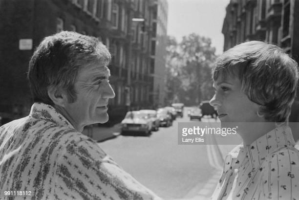 English actress, singer, and author Julie Andrews with her husband, American filmmaker Blake Edwards near Shepherd Market, UK, 9th June 1973.