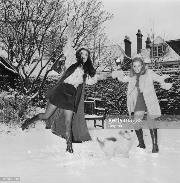 English actress sisters Kate O'Mara and Belinda Carroll UK 30th November 1969