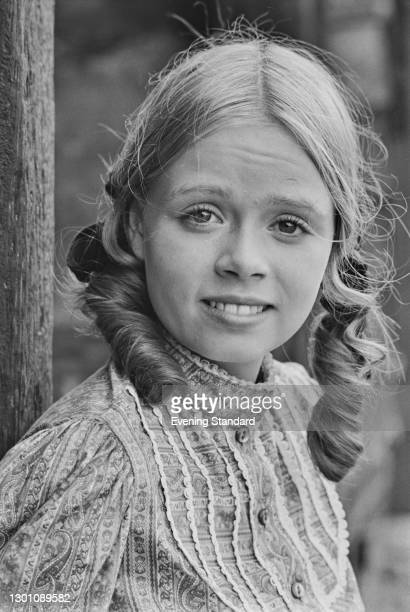 English actress Stacy Dorning in costume during the filming of the second series of 'The Adventures of Black Beauty', UK, 18th July 1973.