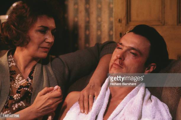 English actress Susan Fleetwood as Rose and Gary Kemp as gangster Ronnie Kray in a scene from 'The Krays' directed by Peter Medak 1990