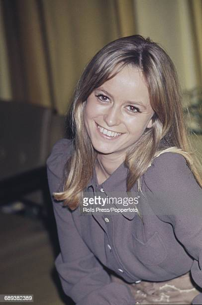 English actress Susan George pictured at a press conference in London prior to the start of work on her new film 'Straw Dogs' 19th January 1971