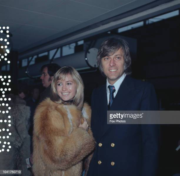 English actress Susan George with singer Jack Jones at London Airport February 1974