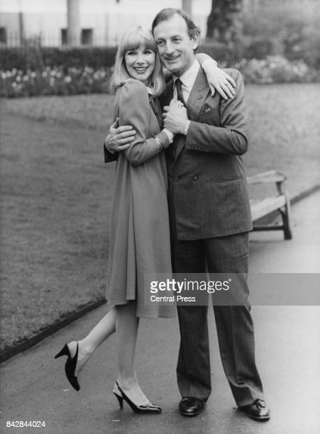 English actress Susan Hampshire and actor Gerald Harper her costar in the stage play 'House Guest' at the Savoy Theatre visit the Savoy Hotel in...