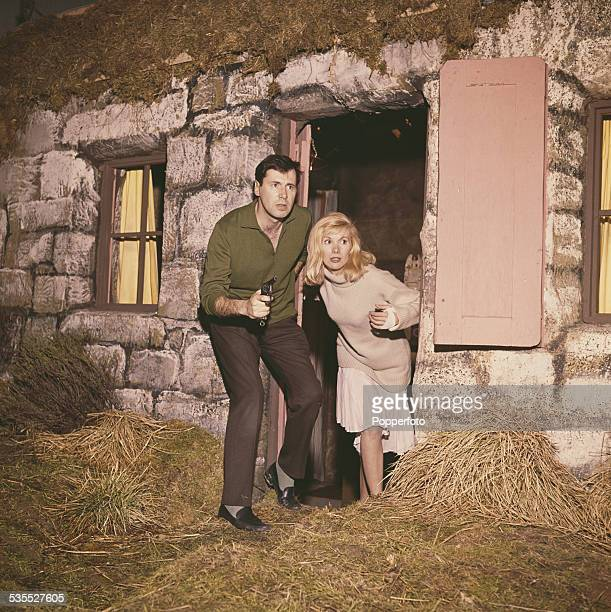 English actress Susan Hampshire and Welsh actor Peter Halliday pictured together in a scene from the BBC television series The Andromeda Breakthrough...