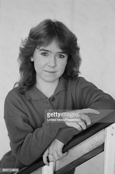 English actress Susan Tully who plays Michelle Fowler in the television soap opera Eastenders posed on set at Elstree on 6th February 1986