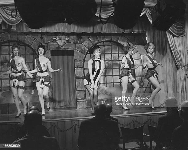 English actress Sylvia Syms as showgirl Maisie King in 'Expresso Bongo' directed by Val Guest 1960