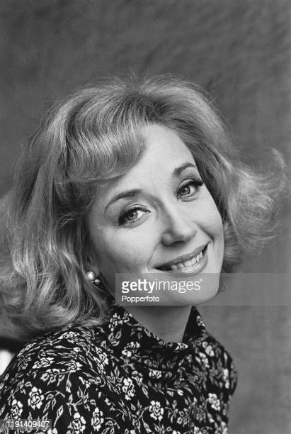 English actress Sylvia Syms plays the character of Mary Fleming during filming of the ABC Weekend Television drama series 'Armchair Theatre Depart in...