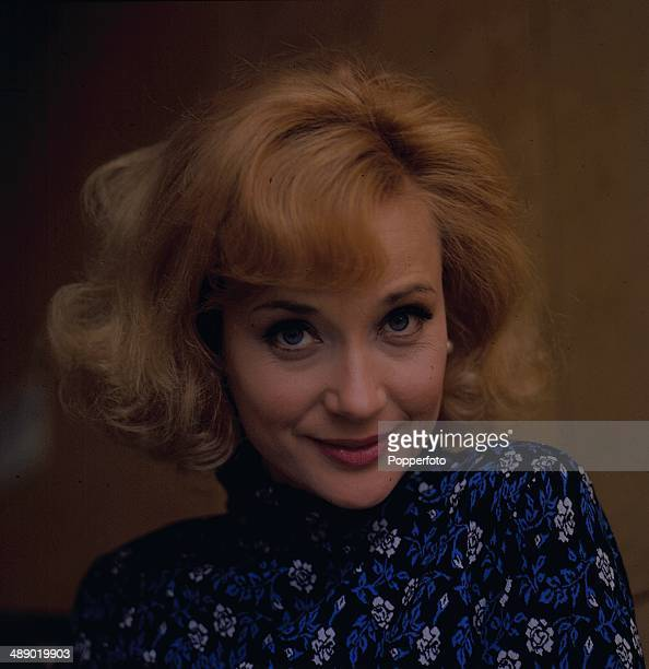 English actress Sylvia Syms posed on the set of the television play 'Depart In Terror' in 1967
