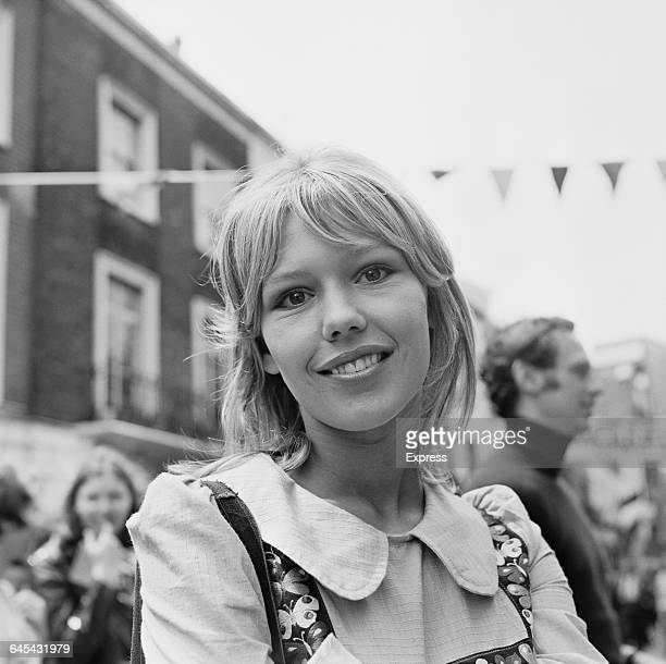 English actress Tessa Wyatt at the Beauchamp Place Fair, London, UK, 26th June 1971.