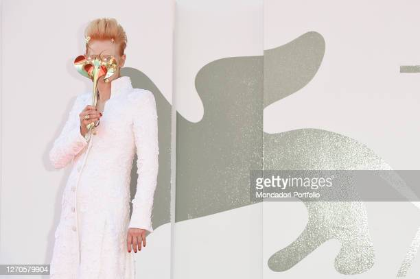 English actress Tilda Swinton at the 77 Venice International Film Festival 2020 The Human Voice Red Carpet Venice September 3rd 2020