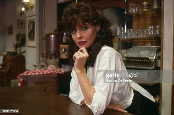 English actress Vicki Michelle as Yvette CarteBlanche in the BBC TV sitcom ''Allo 'Allo'' circa 1989