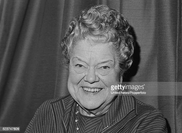 English actress Violet Carson who plays the character Ena Sharples in the long running television soap opera Coronation Street posed on 12th October...
